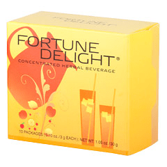 Fortune Delight? Peach 10/3 g Packs  (0.10 oz./3 g each bag)