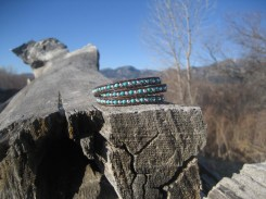 Turquoise & Sterling Silver Triple Wrap
