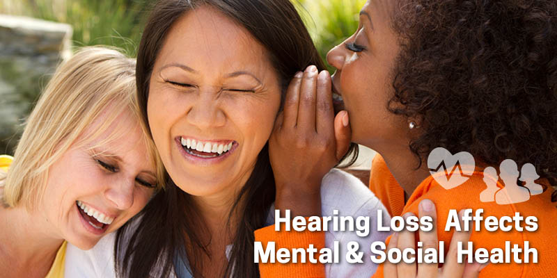 Hearing loss affects mental and social health