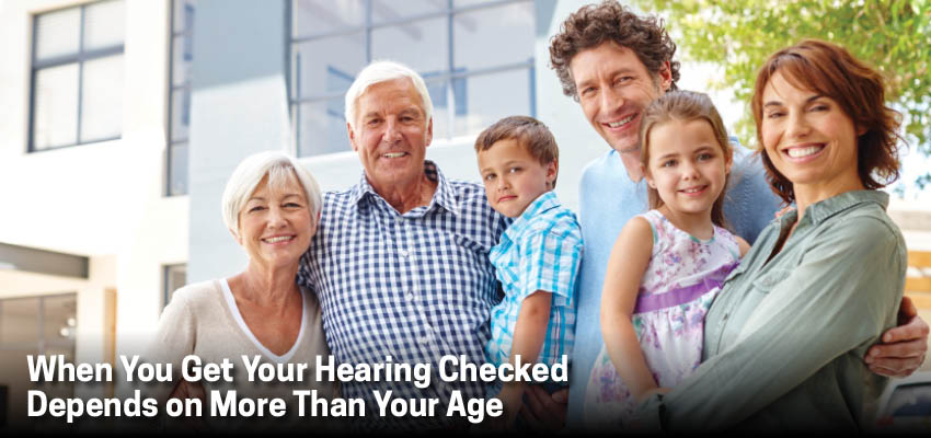When You Get Your Hearing Checked Depends on More Than Your Age