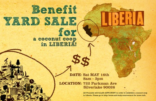Anti-Body/Liberia yard sale poster