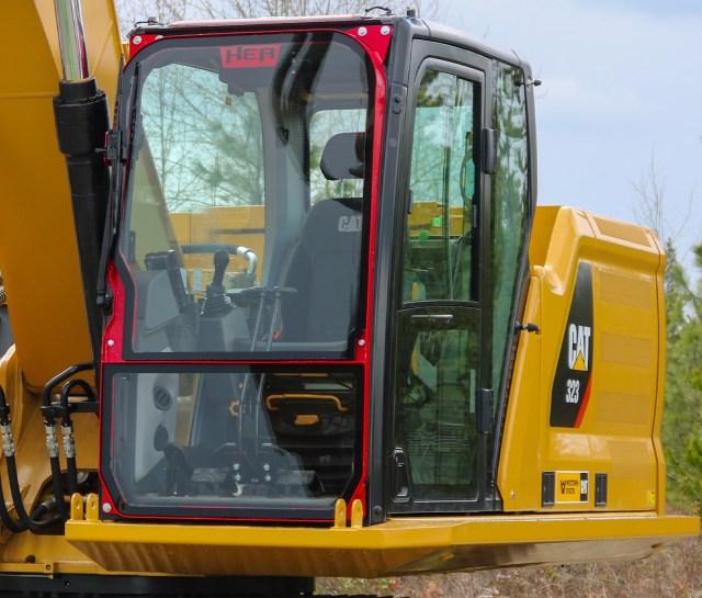 Ballistic Defender Window for Excavator