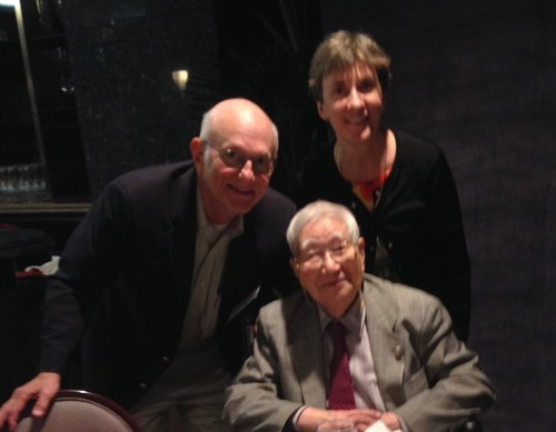 From left: Dr. Stan Shulman, Dr. Tomisaku Kawasaki and Dr. Anne Rowley. (Photo courtesy of Dr. Stan Shulman)