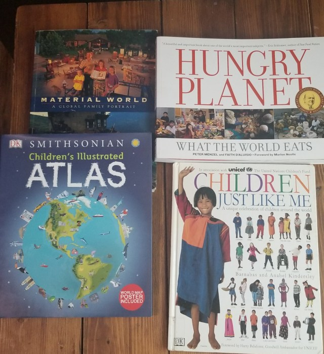 Spain Unit: Elementary Introduction, photo of books as resource suggestions from heart-based homeschool
