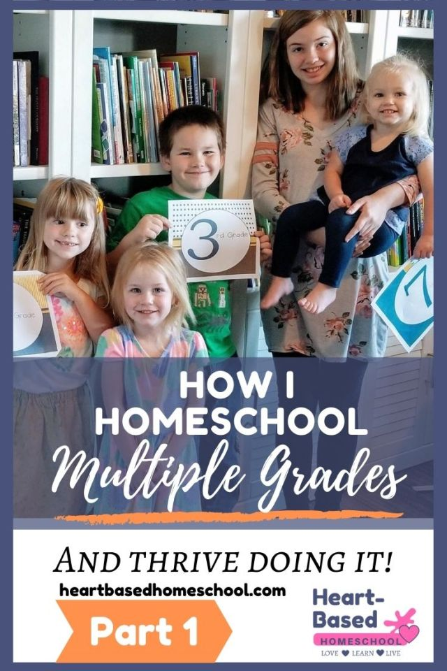 How I homeschool multiple grades and thrive doing it!  Part 1