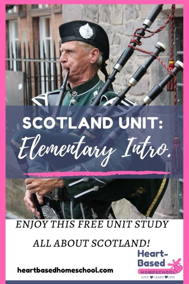 Scotland Unit: Elementary Introduction, a man playing the bagpipes