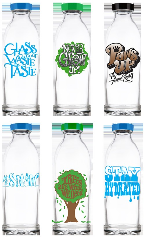 Everything Tastes Better with Glass & Faucet Face Bottles ...
