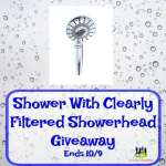 Shower With Clearly Filtered Showerhead Giveaway