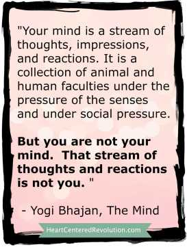 You are not your mind
