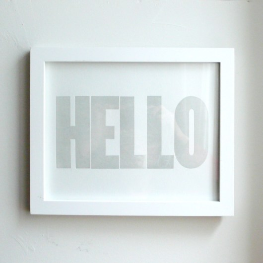 HELLO Print Light Grey