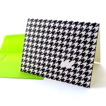 Houndstooth Card - I miss you.