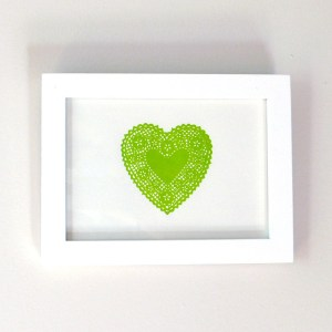 Lace Heart Key Lime Green