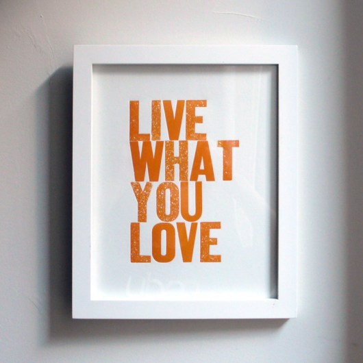 Live What You Love Orange