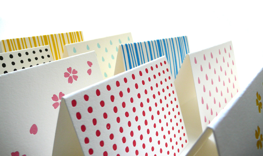 pattern note cards  u2013 pink drops