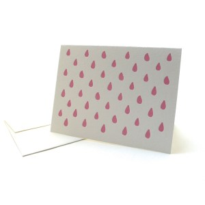 Pattern Note Cards – Pink Drops