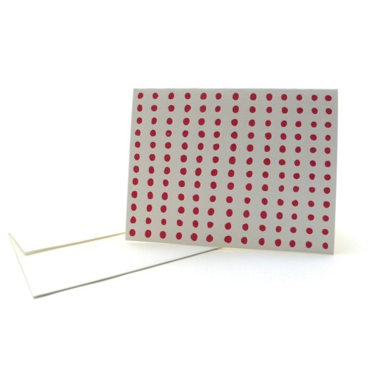 Pattern Note Cards - Red Dots