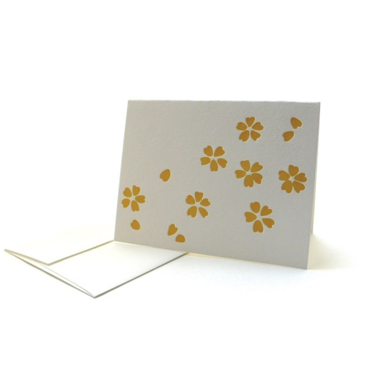 Pattern Note Cards – Yellow Sakura
