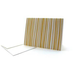 Pattern Note Cards – Yellow Stripe