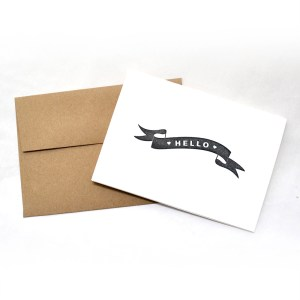 Banner Hello Cards Black