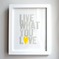 Live What You Love Neon Yellow