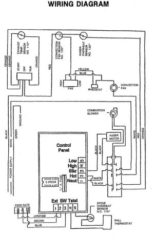 JPG of a pellet master wire diagram JUST FOR INFO | Hearth
