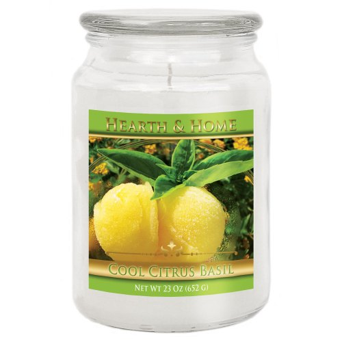 Cool Citrus Basil - Large Jar Candle