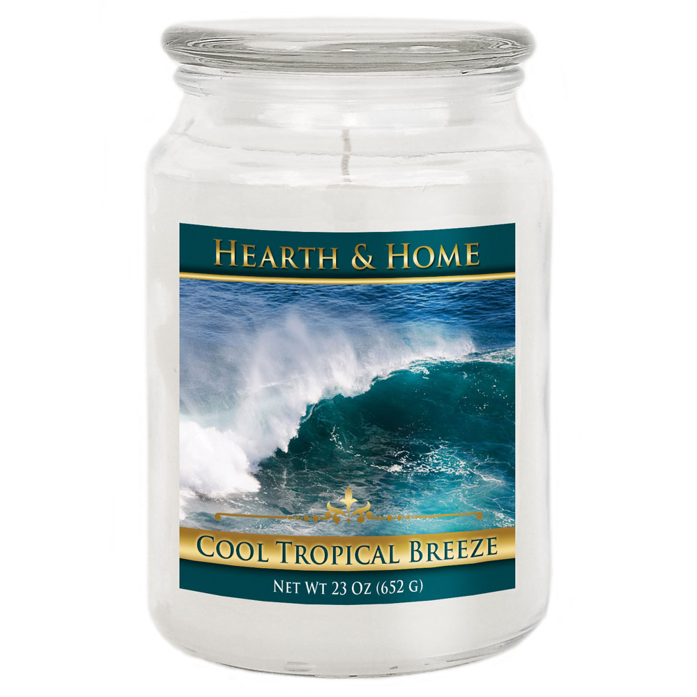 Cool Tropical Breeze - Large Jar Candle