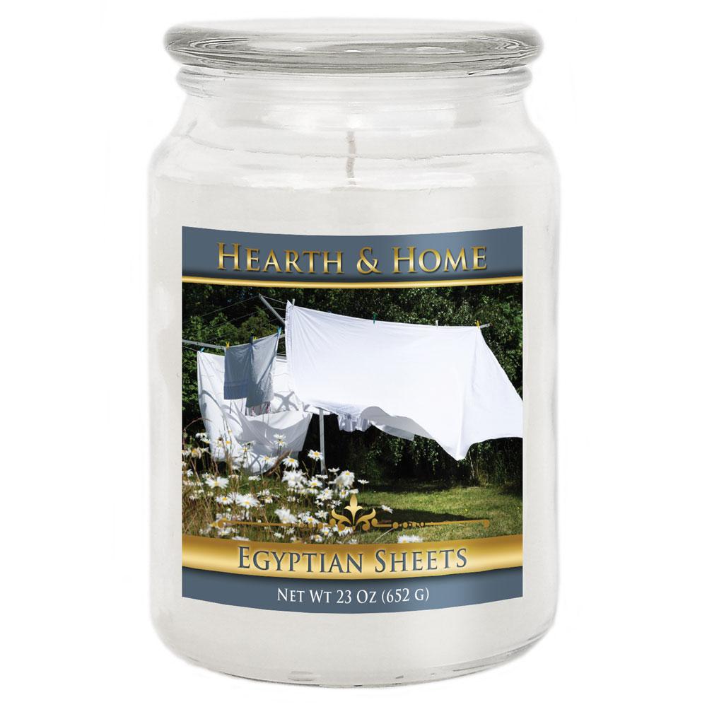 Egyptian Sheets - Large Jar Candle