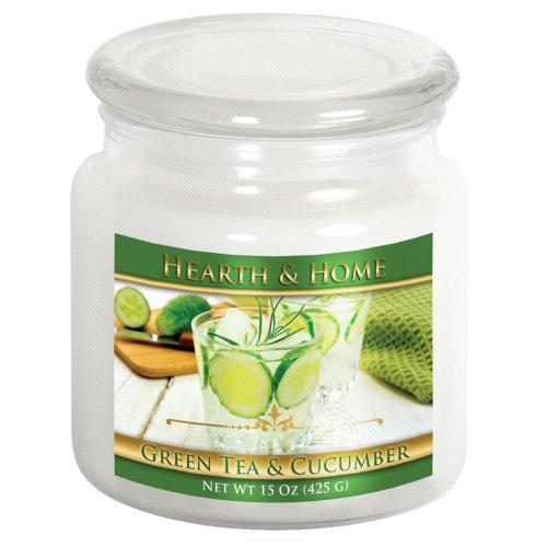 Green Tea & Cucumber - Medium Jar Candle