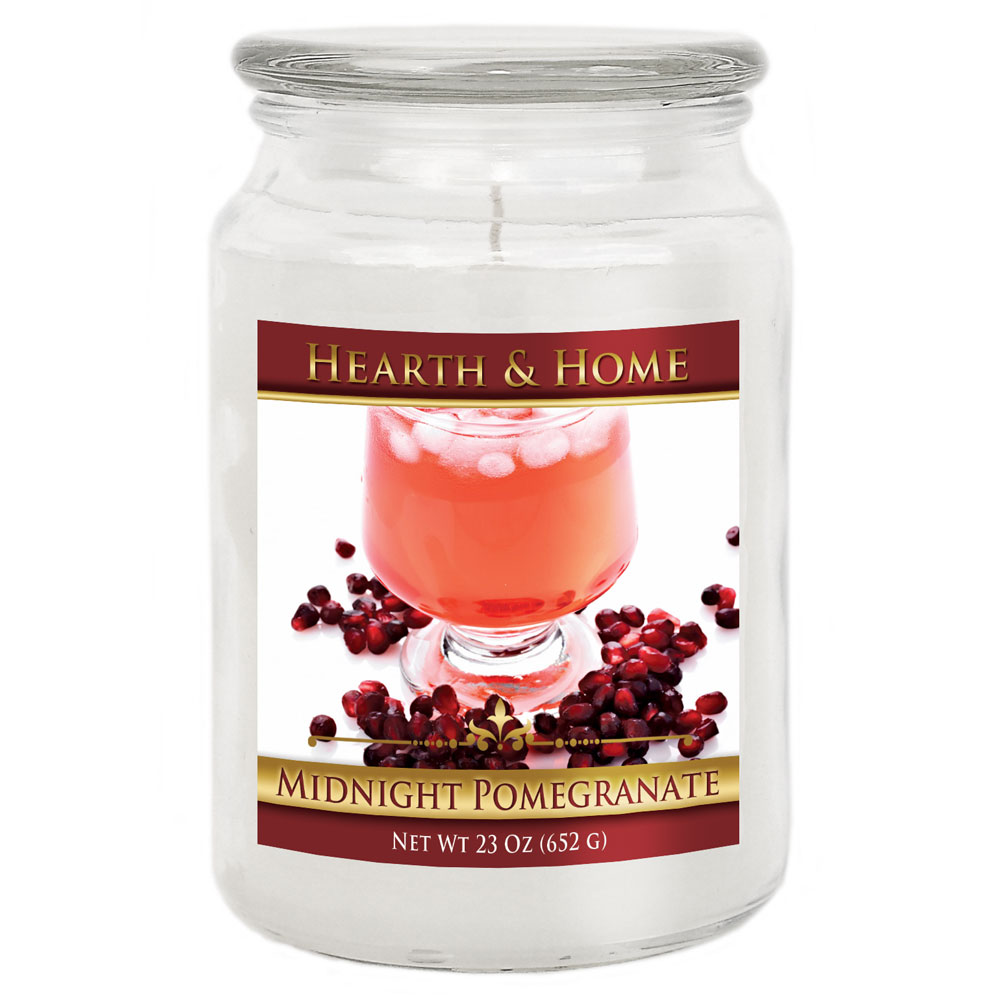 Midnight Pomegranate - Large Jar Candle