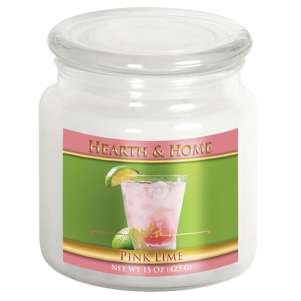 Pink Lime - Medium Jar Candle
