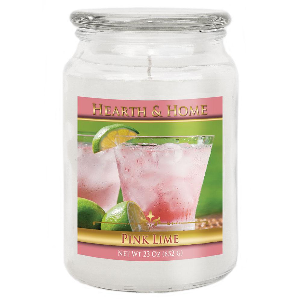 Pink Lime - Large Jar Candle