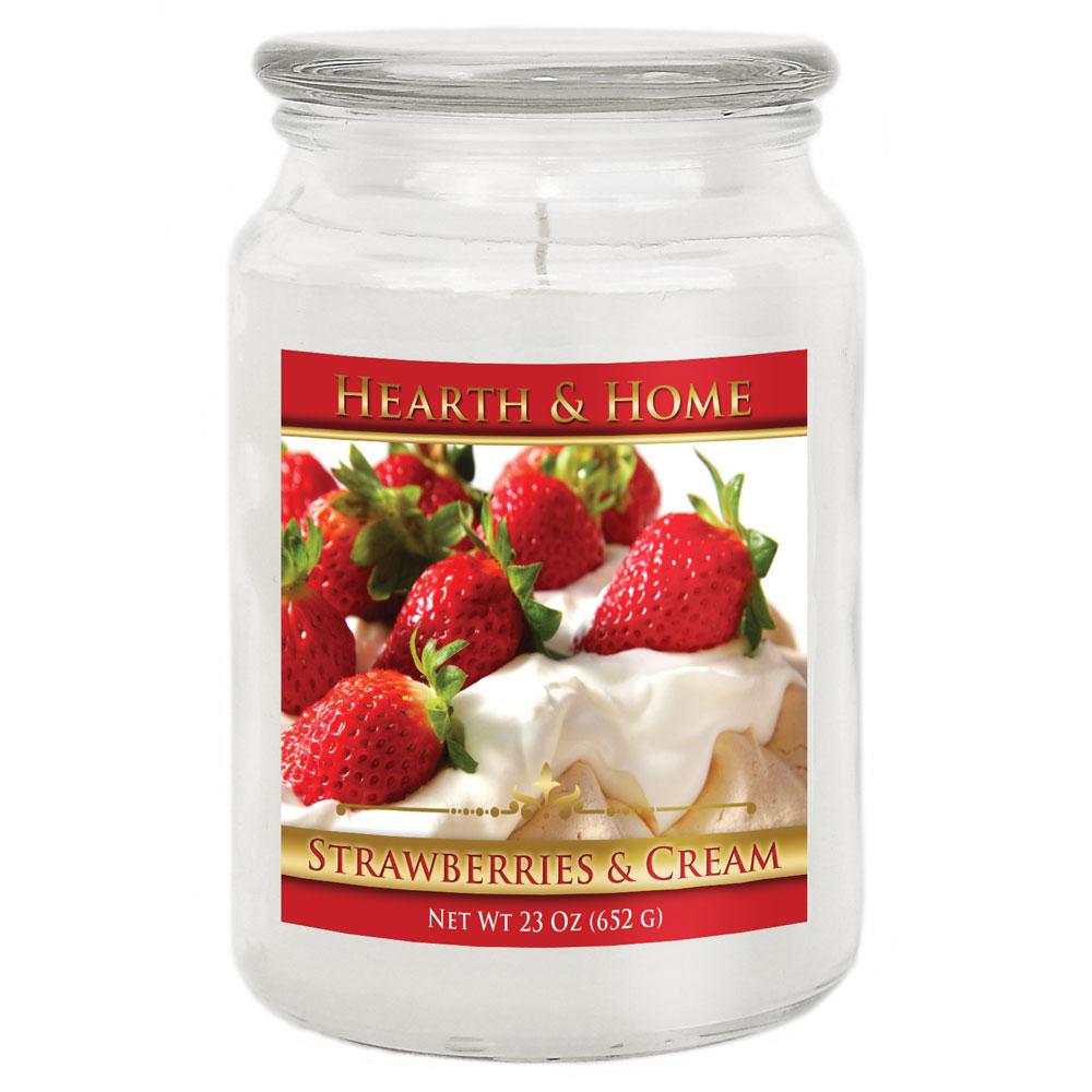 Strawberries & Cream - Large Jar Candle