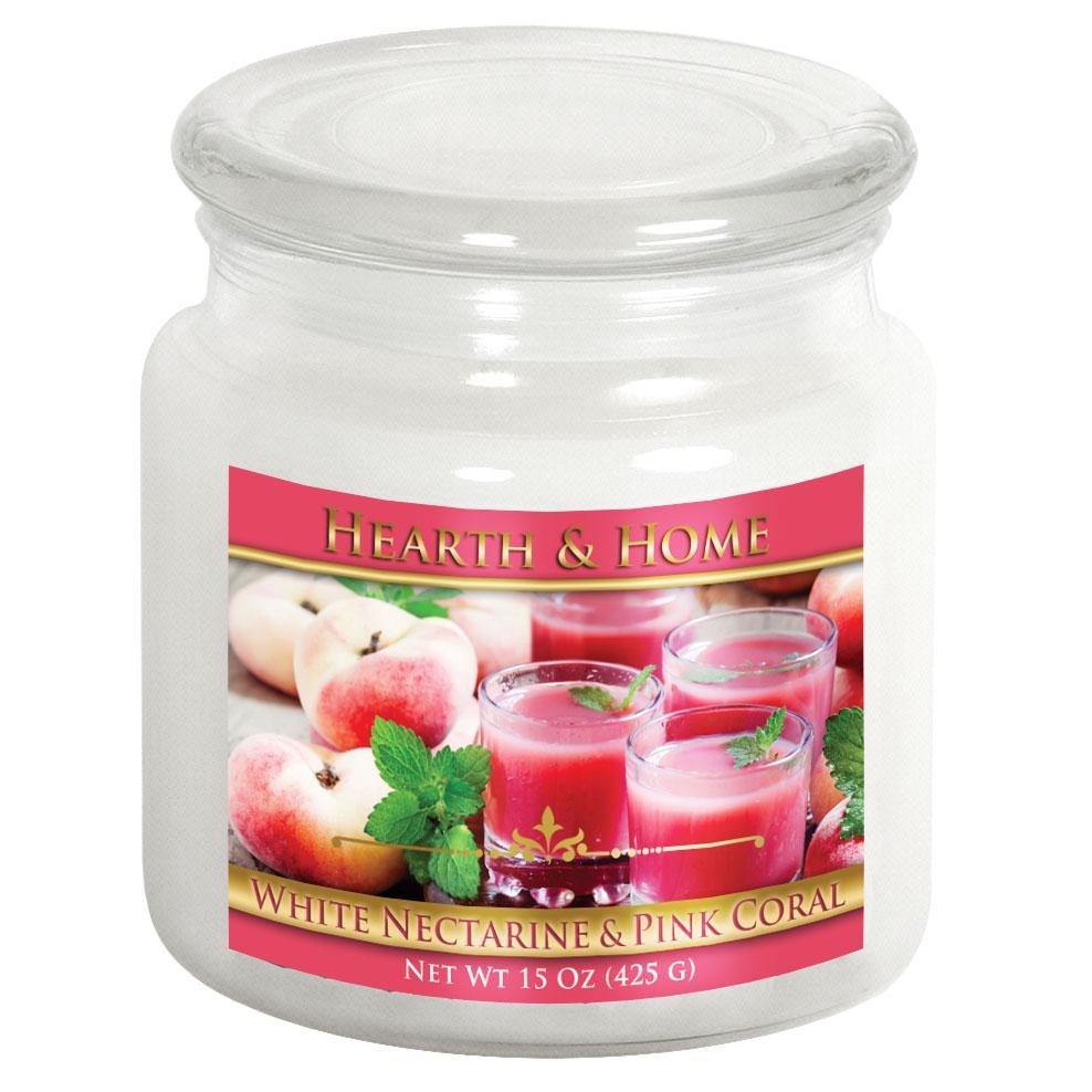 White Nectarine & Pink Coral - Medium Jar Candle