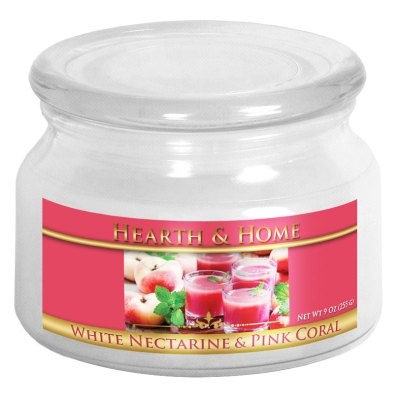 White Nectarine & Pink Coral - Small Jar Candle