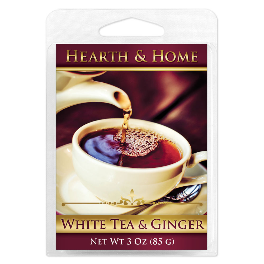 White Tea & Ginger Scented Wax Melt Cubes - 6 Pack
