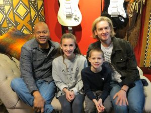 Bronson Arroyo and Eliot Sloan with Gianna and Gavin Trebbi