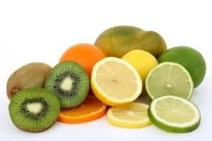 Vitamin C rich fruits: kiwi, oranges, limes.