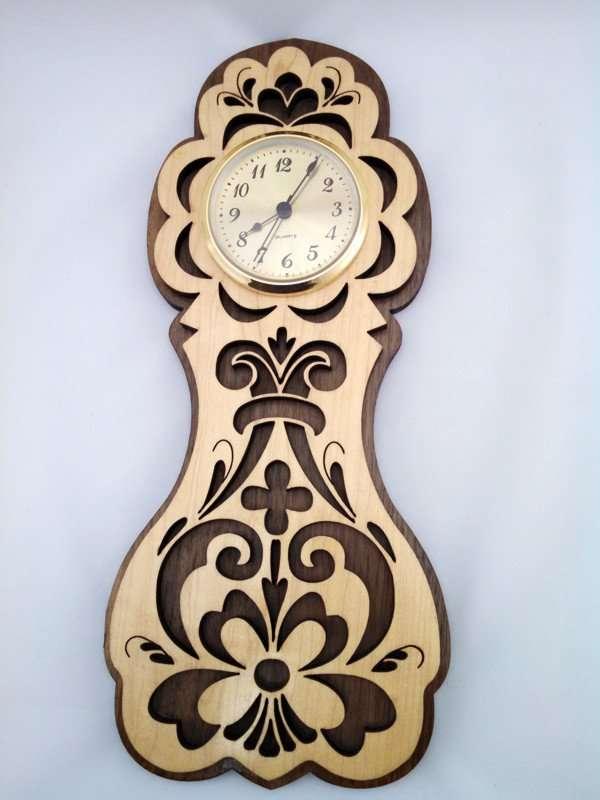 Rosemaling Wall Clock