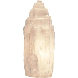 Selenite skyscraper lamp.