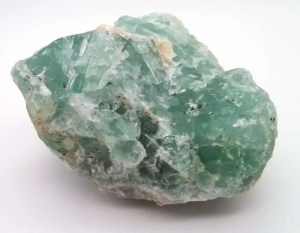 Rough green fluorite chunk.
