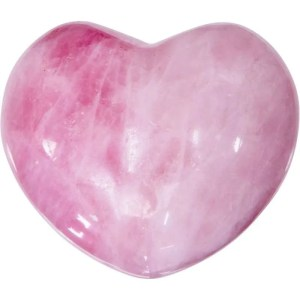 Carved gemstone heart - rose quartz.