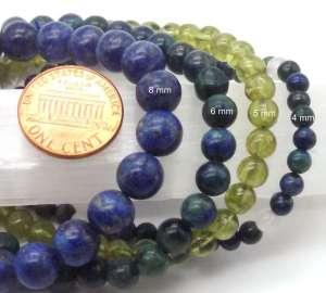 Example of gemstone bead sizes.