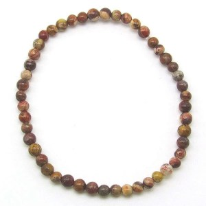 Bird's eye rhyolite 4mm bead bracelet.
