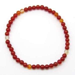 Carnelian 4mm bead bracelet.