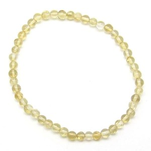 Citrine 3-4mm bead bracelet.