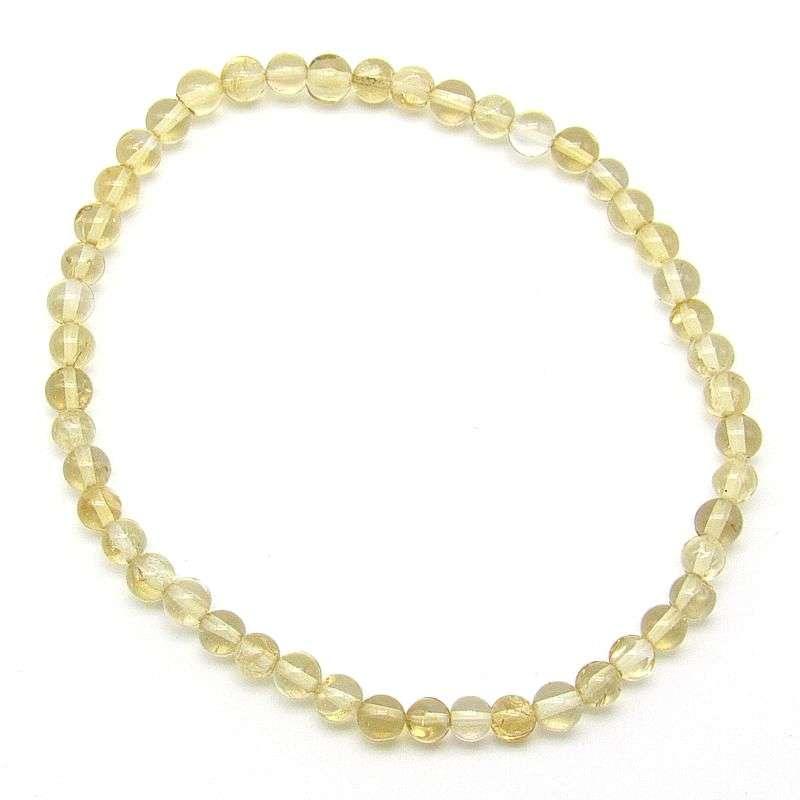 Citrine 3-4mm bead bracelet.