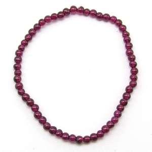 Red garnet 3-4mm bead bracelet.