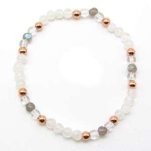 4mm chakra bead bracelet - higher crown chakra