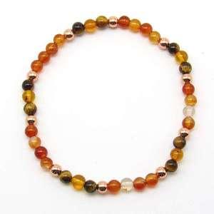 4mm chakra bead bracelet - sacral chakra
